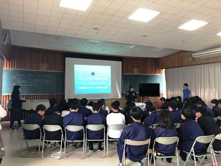 RX組 青山幸広ゼミを島前高校で開催しました(11月22日)